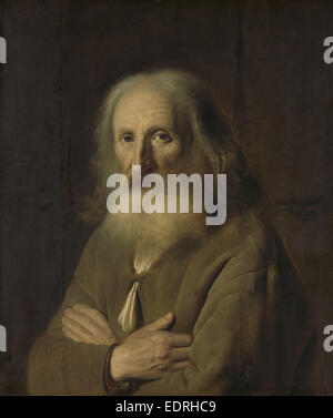 Portrait d'un vieil homme, Simon Kick, 1639 Banque D'Images