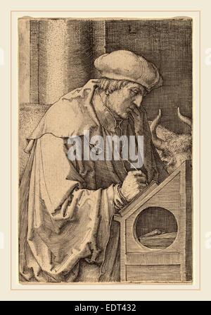 Lucas van Leyden (1489-1494-1533), Russisch, Saint Luc, 1518, gravure Banque D'Images