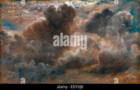 Étude de l'étude nuage de Cumulus étiquette sur civière: 'Augt 11822 II O, très chaud avec de gros nuages d'escalade Banque D'Images
