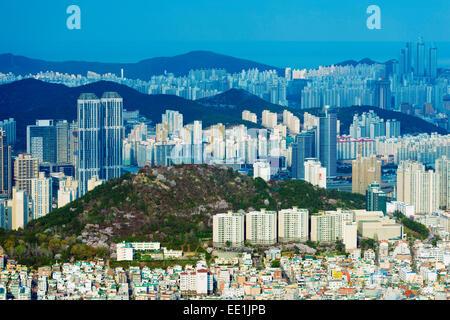 City skyline, Busan, Corée du Sud, Asie Banque D'Images