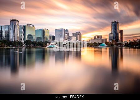 Orlando, Floride, USA Centre-ville de la ville. Banque D'Images