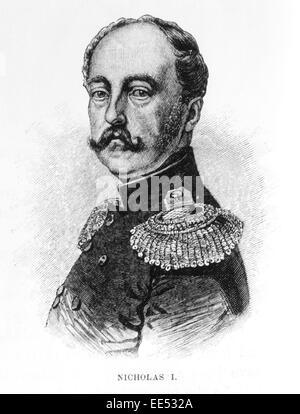 Nicolas I (1796-1855), Empereur de Russie, 1825-1855, Portrait, gravure 1886 Banque D'Images