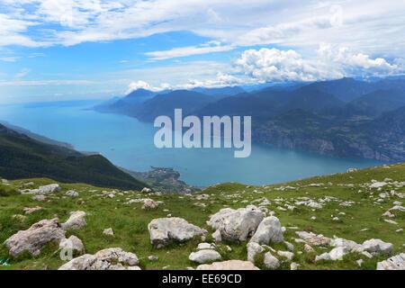 Le lac de Garde, Italie Banque D'Images