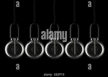 Ampoules style vintage tous hors tension Banque D'Images