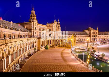 Séville, Espagne en espagnol Square. Banque D'Images