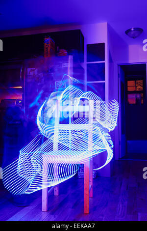 Peinture lumière lunatique formes avec LED stick