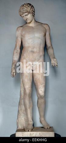 """Magda Capitolin"""". Marbre, copie romaine (2e siècle) d'une statue grecque représentant Hermes (4e siècle avant J. Banque D'Images"""