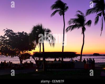 Le Mexique, Punta Mita, Coucher de soleil sur la plage Banque D'Images