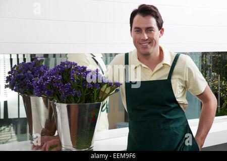 Portrait d'un fleuriste