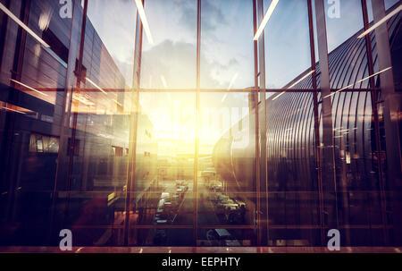 Vintage photo filtré de l'aéroport, le transport et les voyages d'affaires concept. Banque D'Images