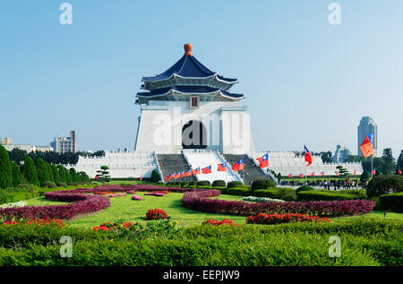 Chiang Kai-Shek Memorial Hall à Taipei. Chiang Kai-shek Memorial Hall est une destination de voyage populaires parmi Banque D'Images