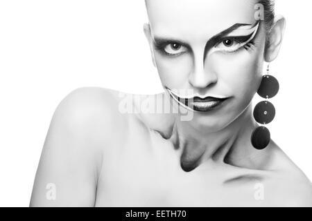 Joker de fille Banque D'Images