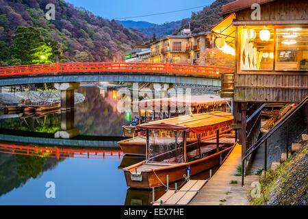 Uji, préfecture de Kyoto, le Japon sur la rivière Ujigawa. Banque D'Images