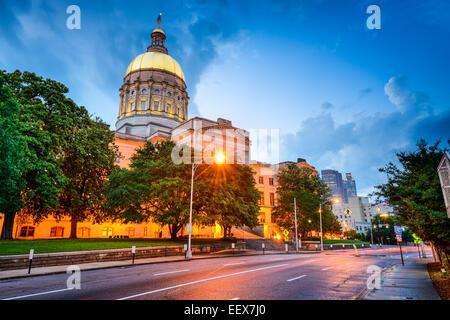 Georgia State Capitol Building à Atlanta, Géorgie, USA. Banque D'Images