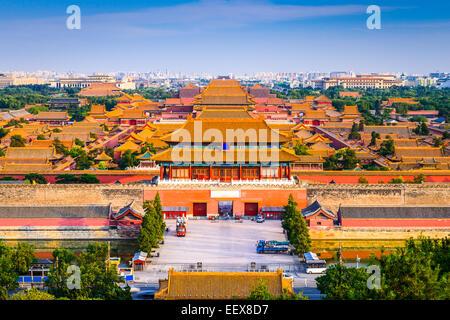Beijing, Chine ville dans la Cité Interdite.