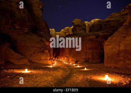 Petra en Jordanie Banque D'Images