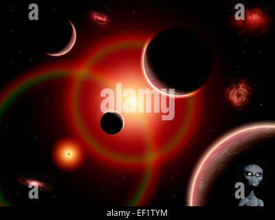Gray Aliens From The Zeta Reticuli Star Système Banque D