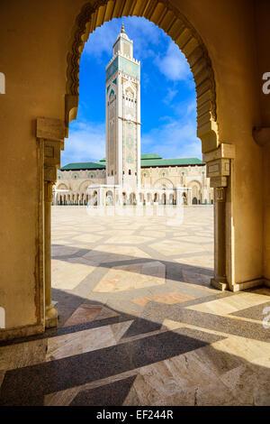 Mosquée Hassan II à Casablanca, Maroc. Banque D'Images