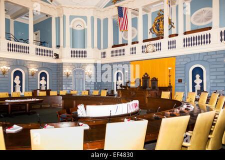 La Chambre du Sénat, Massachusetts State House, Beacon Street, Boston, Massachusetts, USA