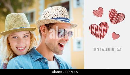 Image composite du hip young couple de passer du temps ensemble Banque D'Images