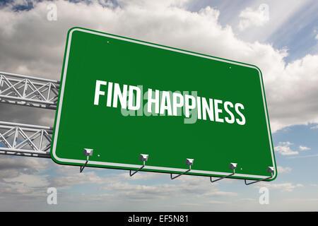 Trouver le bonheur contre le ciel Banque D'Images