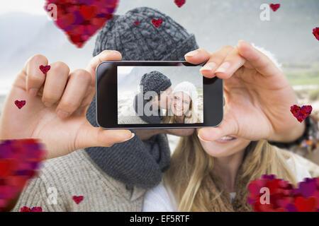 Image composite de la saint valentin couple Banque D'Images