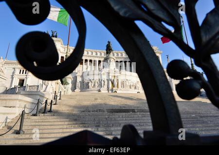 Monument à Piazza Venezia, Rome Italie Banque D'Images