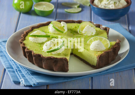 Key Lime Pie. Les agrumes dessert USA Banque D'Images