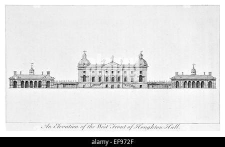Gravure sur cuivre 1776 beautés du paysage Angleterre plus élégant de magnifiques édifices publics. West/Houghton Banque D'Images