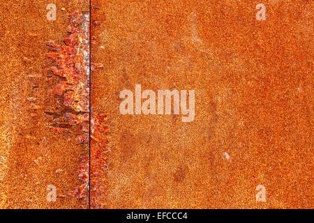 Rusty metal rouge, peut être utilisé comme arrière-plan Banque D'Images