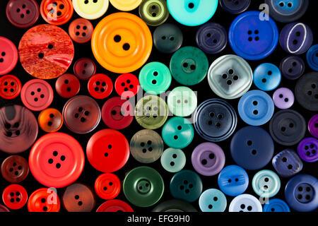 Sélection de boutons colorés Banque D'Images