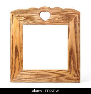 Avec cadre photo coeur isolé sur fond blanc Banque D'Images