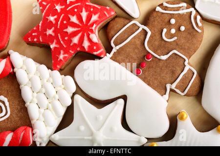 Décoration de Noël sur la table d'épices Banque D'Images
