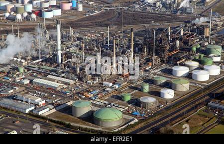 Vue aérienne d'un petro chemical works sur le Nord du Lincolnshire, Royaume-Uni Banque D'Images