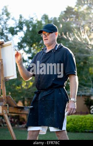 Homme plein-air du peintre Albin Polasek Museum and Sculpture Garden, Winter Park, Floride, USA Banque D'Images