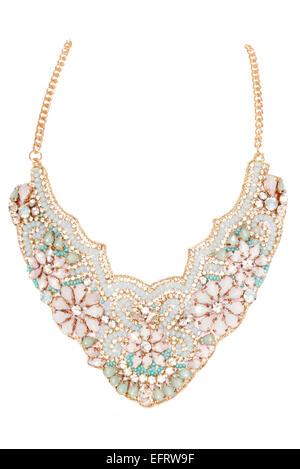 Trinket Box de fantaisie souhaitez  Style vintage bijoux collier dentelle  Banque D Images 65b6d08a6fdc