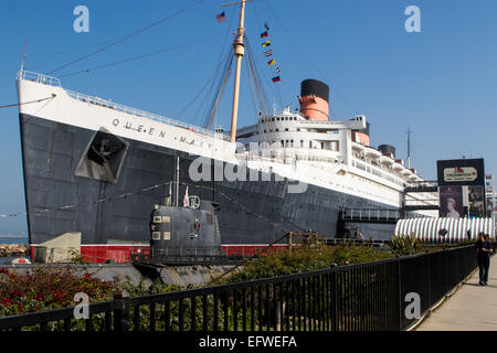 RMS Queen Mary à Long Beach California USA Banque D'Images
