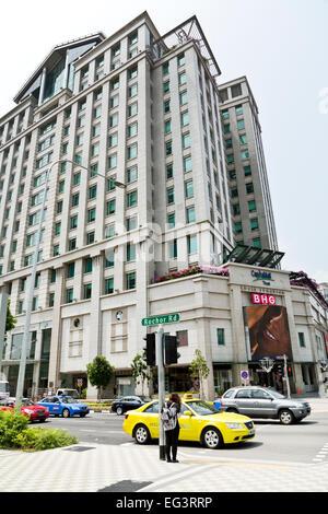 La construction du centre commercial de Bugis Junction, Singapour Banque D'Images