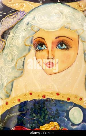 Face,Russie,la culture russe, russe poupée de nidification,Studio Shot,Selective Focus,Culture,traditionnel, Babouchka Banque D'Images