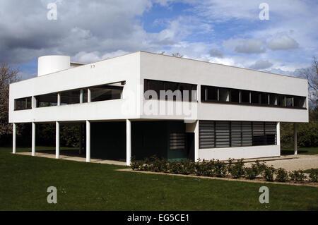 La France. Poissy. Villa Savoye. Conçu par des architectes suisses Le Corbusier (1887-1965). 1928-1931. Style international. Banque D'Images