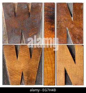 - Négociation gagnant-gagnant ou la résolution de conflits - stratégie de mots isolés dans la typographie vintage Banque D'Images