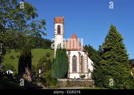 L'Église allemande - Dorfkirche St Maurice à Oberwolfach, Allemagne Banque D'Images