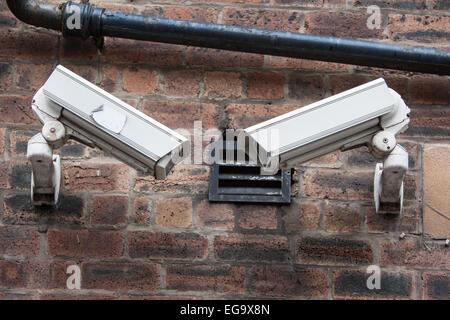 Caméras de sécurité CCTV à Glasgow, Écosse, Royaume-Uni. Banque D'Images