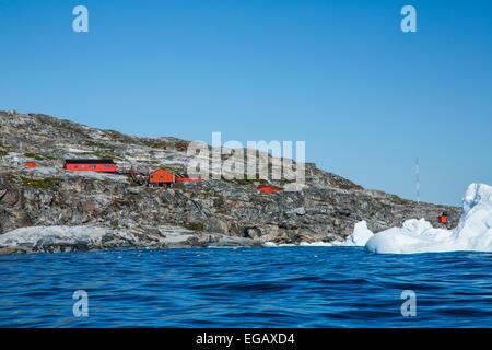 Primavera, base antarctique de l'Argentine et de la recherche scientifique de base, Cierva Cove, l'Antarctique Banque D'Images