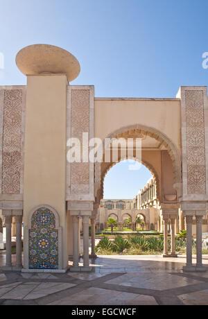 Vue de la mosquée Hassan II à Casablanca, Maroc Banque D'Images