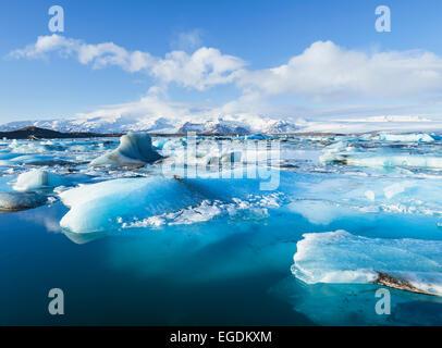 Iceberg jökulsárlón Jökulsárlón Europe Islande Panorama Lagoon Banque D'Images