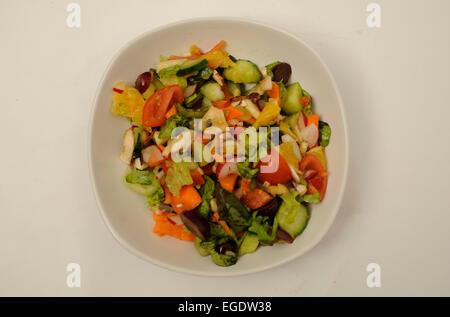 Assiette de salade Banque D'Images