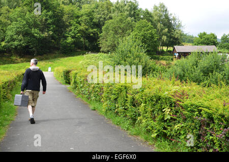 Par la beauté naturelle de la région du Sauerland peuvent profiter juste sur le bord d'un médecin de campagne dans Banque D'Images