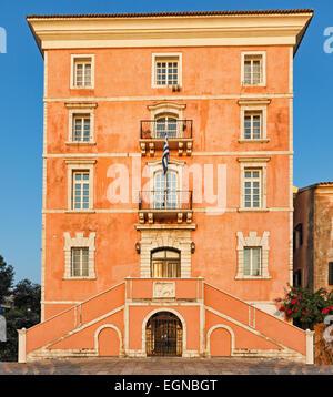 Un bâtiment à la vieille ville de Corfou, Grèce Banque D'Images