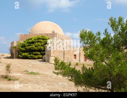 Fortezza vénitienne ou la Citadelle dans la ville de Réthymnon sur l'île de Crète, Grèce, créé en 1573. Banque D'Images